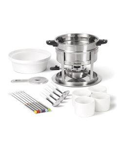 3 in 1 Fondue Set - 20 pieces - Magnetic fork guide