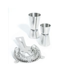 Jiggers and Cocktail Strainer Set