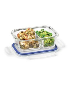 Lock & Lock Glass 320 ml Rectangular with Divider