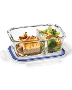 Lock & Lock Glass 700 ml Rectangular with Divider