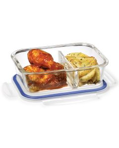 Lock & Lock Glass 950 ml Rectangular with Divider